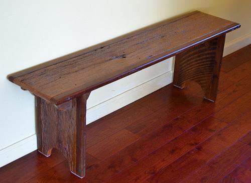 R emploi nous avons achet du bois de grange j 39 aimerais - Banc de salle de bain en bois ...