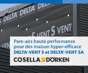 Cosella-Dörken, manufacturier de barrière d'étanchéité à la vapeur, systèmes de pare-pluie, systèmes de drainage et de protection de l'humidité des murs de fondation, écrans de sous-toiture