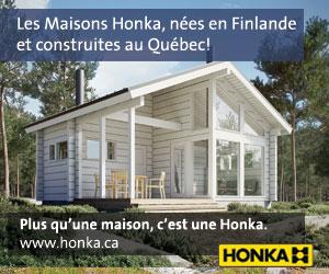 Les maisons en bois massif Honka sont construites en madriers (bois carrés) ou en rondins avec des découpes exclusives