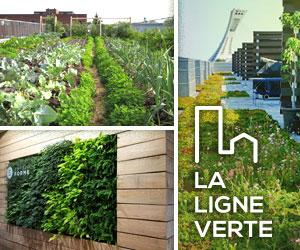 La ligne verte: spécialistes et installateurs de toitures végétales. Agriculture urbaine, toit terrasse, aménagement paysager, mur végétal
