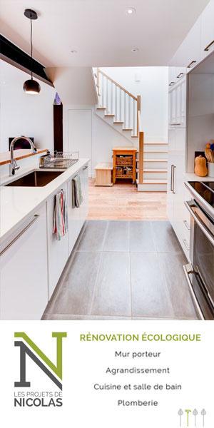 L'un des projets de rénovation les plus en demande ? La cuisine. L'équipe des Projets de Nicolas a travaillé sur de nombreux chantiers de cuisine et connaît donc les meilleures techniques et méthodes de rénovation écologique.