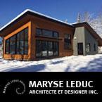 Maryse Leduc Architecte et Designer, chalet, maison de campagne, maison contemporaine, maison LEED, maison écologique, condominium, maison sur mesure, maison vive, plans, résidentiel