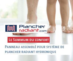 Plancherradiant.com :panneau assemblé pour système de plancher radiant hydronique