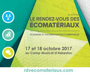 3e colloque international : LE RENDEZ-VOUS  DES ÉCOMATÉRIAUX