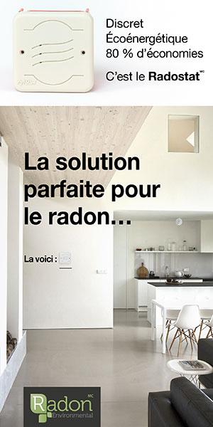 Radostat, de Radon Environmental, une nouvelle méthode de surveillance et de réduction de la concentration en radon dans les constructions commerciales et résidentielles
