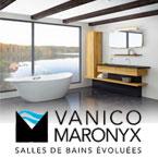 Vanico-Maronyx allie la créativité humaine et la technologie manufacturière pour offrir des designs de mobiliers et de sanitaires intelligents, personnalisé, de qualité supérieure et écologiques
