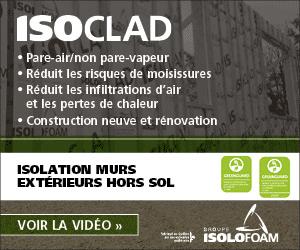 ISOCLAD – pour des murs bien isolés et étanches