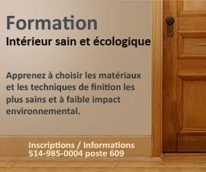 Formation Écohabitation Intérieur sain et écologique