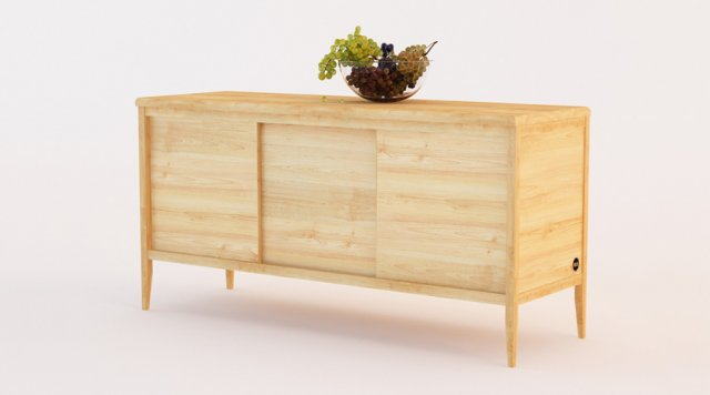 Ikea meuble bois brut