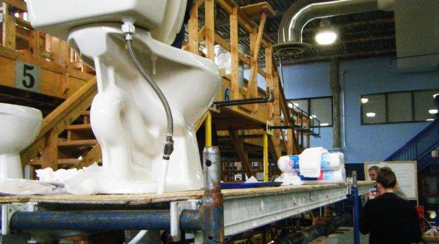 Banc d'essai concluant pour les toilettes écologiques à faible débit