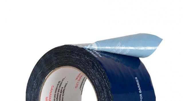 Le Tuck® Tape bleu, conçu spécialement pour les pare-vapeur