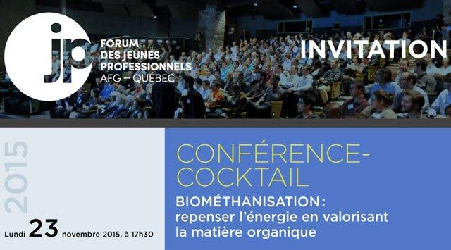 Conférence sur la biométhanisation à l'ÉTS le 23 novembre