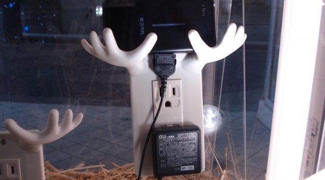 Chargeur de téléphone en vitrine