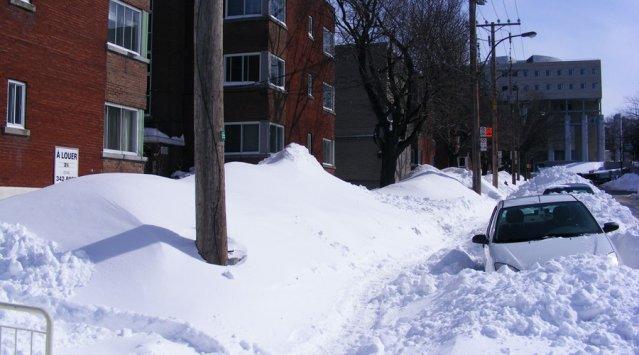 Maisons Montréal froid neige