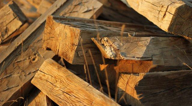 poutres colonnes de bois lamellé-collé Chantiers Chibougamau