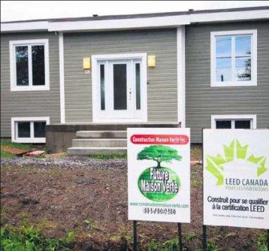 Construction d'une première maison écologique LEED