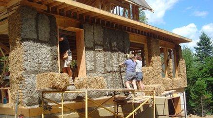 Chantier maison de paille nouvelle cohabitation for Maisons en paille