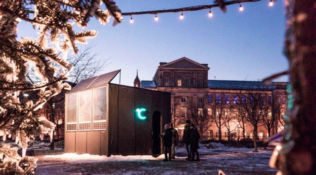 Igloofest: voici Celsius, l'Igloo solaire de l'équipe L. McComber!