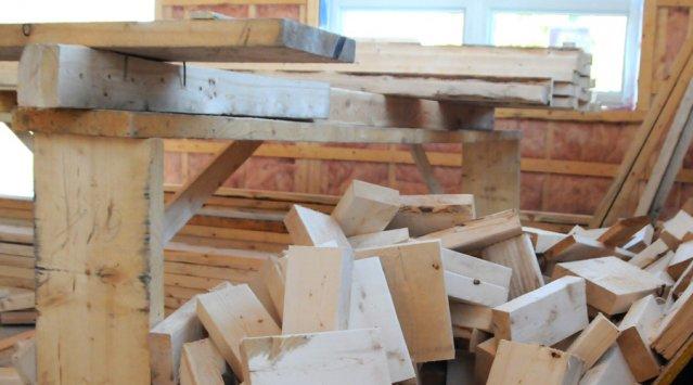 Chutes de bois, recyclage