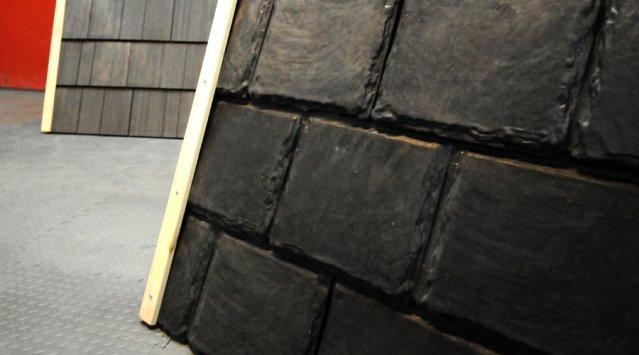 Mille pneus recyclés pour faire un toit