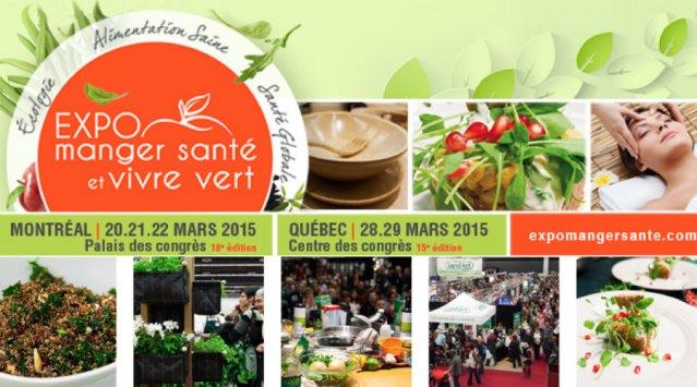 Expo manger santé et vivre vert 2015 à Montréal