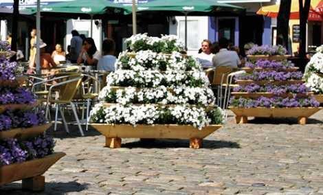 Nouveau concept de jardinage : la pyramide pour plantes triolife
