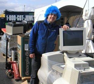 Collecte verte à Québec à l'occasion du Jour de la Terre 2011