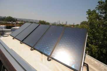Panneaux photovoltaïques à Montréal.