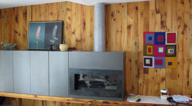 Bois récupéré dans la salle à manger. Photo Emmanuel Cosgrove pour Écohabitation
