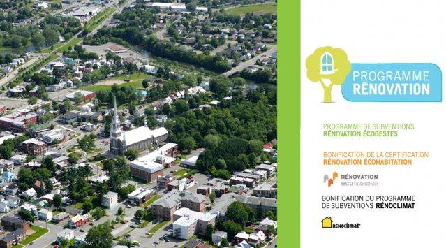 Programme de subvention Habitation Durable volet rénovation, par Victoriaville