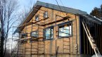 Installing siding on a passive solar home