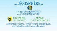 Écosphère de Montréal les 13 et 14 juin 2015