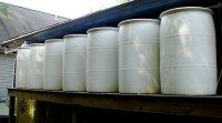 Citernes de collecte d'eau de pluie dans l'Ohio