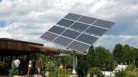 Panneau photovoltaïque aux Écoumènes, dans Lanaudière