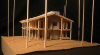 Maquette de maison écologique