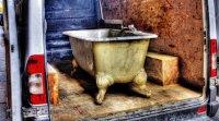 Vieux bain sur pattes