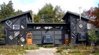 Maison entièrement construite avec des matériaux récupérés, Japon