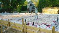 Dalle de béton flottante d'un projet dans la ville de Rosemère