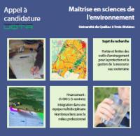 Maîtrise en sciences de l'environnement à l'Université du Québec à Trois-Rivière