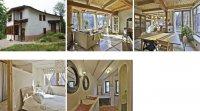 Une maison verte au design recherché et unique
