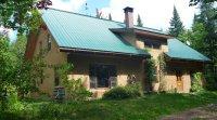 Maison de paille de qualité supérieure, saine et écologique à vendre, en Estrie