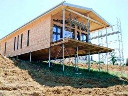 maison sur pieux contexte terrain forte pente - Construction Maison Metallique Particulier
