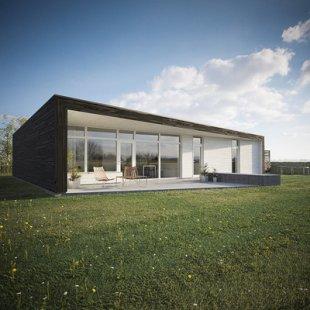 Maison solaire passive en Grande-Bretagne