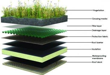 mise en oeuvre de toit v g tal toit vert toits v g taux cohabitation. Black Bedroom Furniture Sets. Home Design Ideas