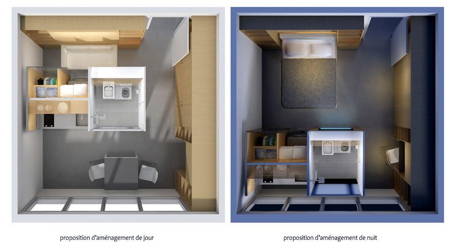 Une mini cuisine salle de bains compacte remporte un for Salle de bains in english