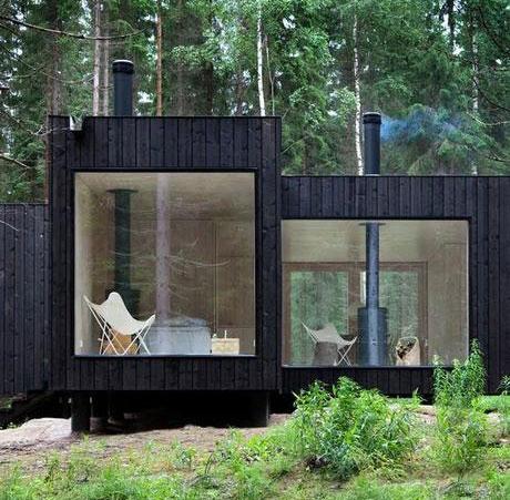 shou sugi ban yakisugi le bois carbonis aux multiples. Black Bedroom Furniture Sets. Home Design Ideas