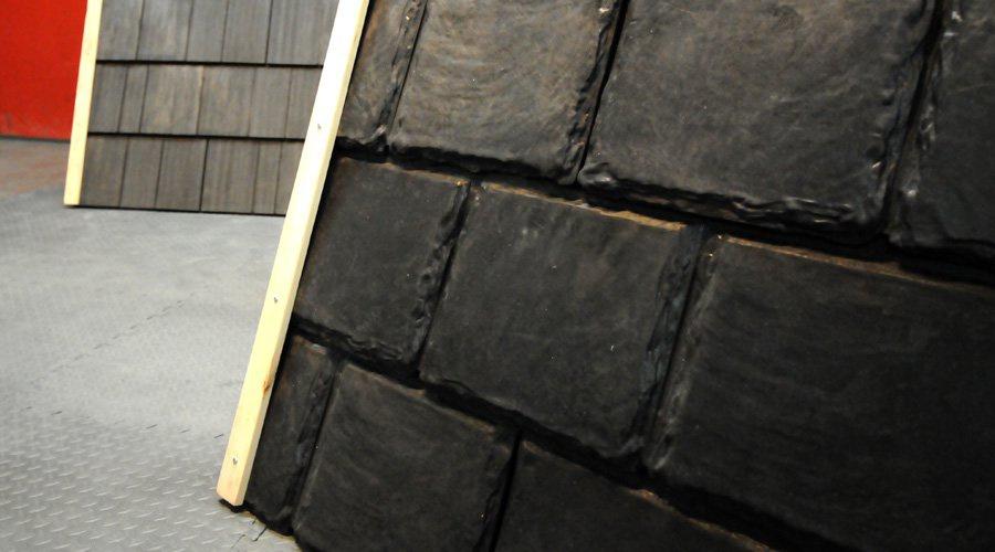 mille pneus recycl s pour faire un toit cohabitation. Black Bedroom Furniture Sets. Home Design Ideas