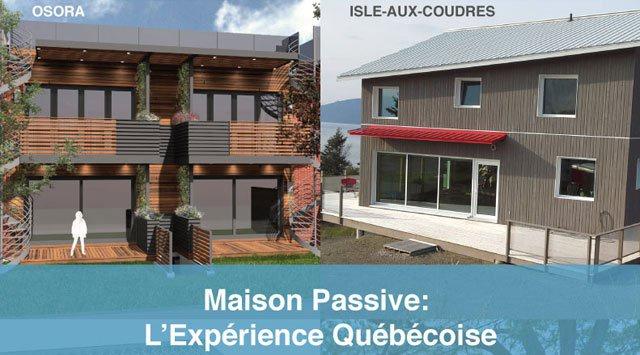 Conférence maisons passives au québec maison passive québec