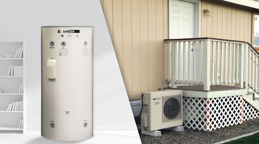 nouveaut chauffe eau pompe chaleur avec compresseur ext rieur cohabitation. Black Bedroom Furniture Sets. Home Design Ideas