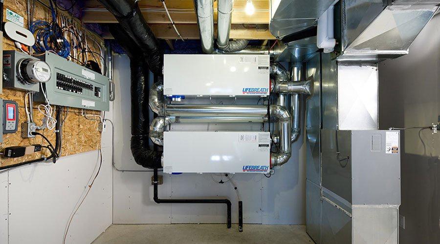 echangeur air air maison VRC dans une maison EQuilibrium